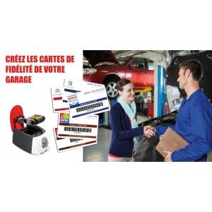 Carte de fidélité en garage automobile