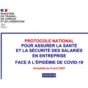 Plan d'action relatif au protocole national pour assurer la santé et la sécurité des salariés face à l'épidémie de COVID-19