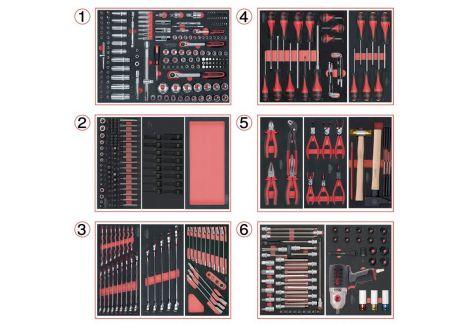 Composition d'outils 6 tiroirs pour servante, 429 pièces