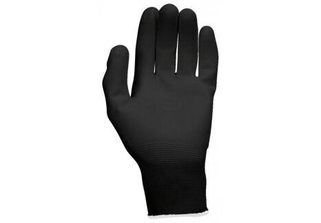 Gants microfibres noirs, L, 12 paires