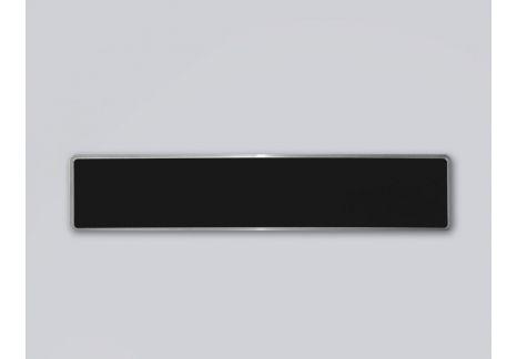 Plaque d'immatriculation noire de collection 520 x 110 FNI