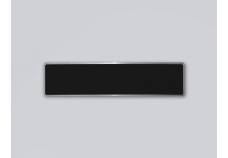 Plaque d'immatriculation noire de collection 455 x 100 FNI