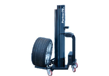 Élévateur à batterie pour roue / lève roue mobile